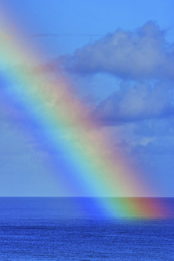 Rainbow on the Pacific - Rich Cruse